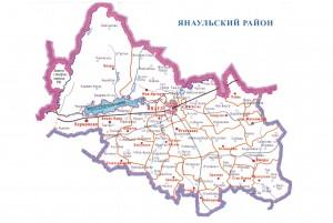 Karta_Yanaul_rajon
